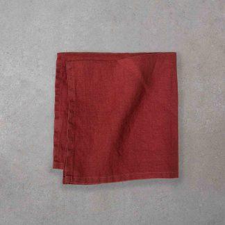ekologiska linnetyg servetter röda