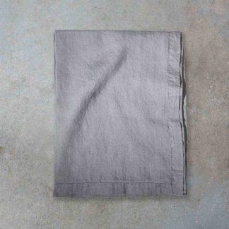 linneduk ekologiskt linnetyg grå